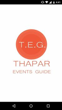 Thapar Events Guide poster