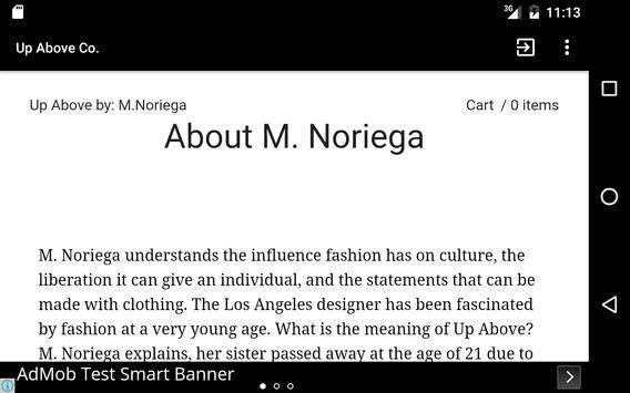 Up Above by: M.Noriega apk screenshot