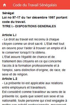 Code du Travail Sénégalais screenshot 1