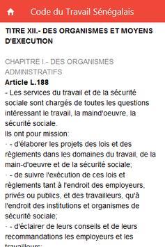 Code du Travail Sénégalais screenshot 2