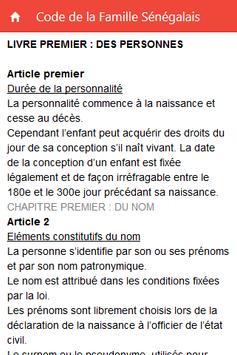 Code de la Famille Sénégalais screenshot 1