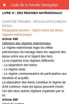 Code de la Famille Sénégalais screenshot 2