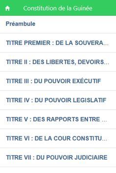 Constitution de la Guinée poster