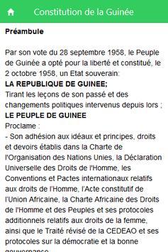 Constitution de la Guinée screenshot 1