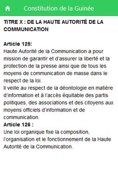 Constitution de la Guinée screenshot 2