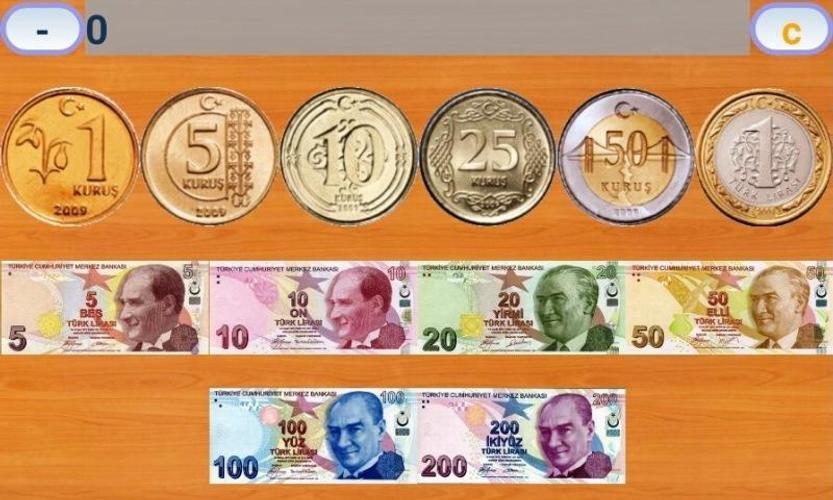 Turkish Money Calculator Poster