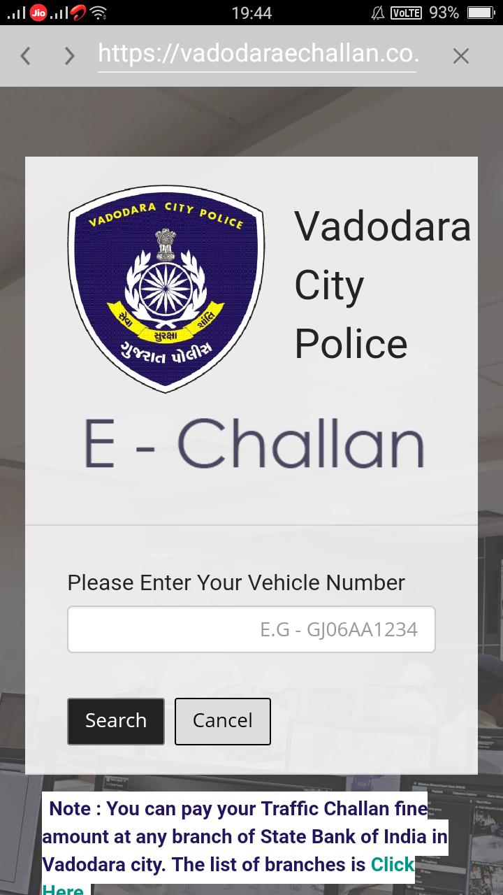 Traffic Echallan All Gujarat Check and Pay Online for