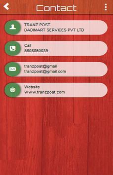 TRANzPOST apk screenshot