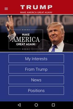 Trump 2016 APP poster