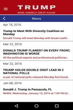 Trump 2016 APP screenshot 2