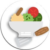 Food recipes with breakfast and dinner ideas icon