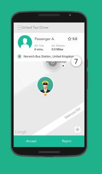 United Taxi App Driver poster