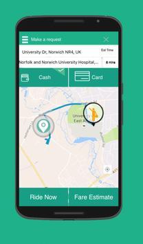 United Taxi App screenshot 2