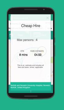 United Taxi App screenshot 3