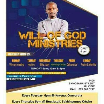 WGM Church with Pastor Jacob Bathandwa Nthako poster
