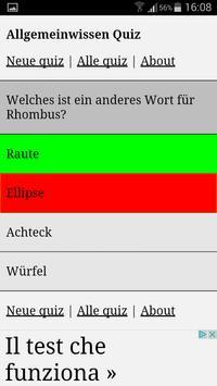 Allgemeinwissen Quiz apk screenshot