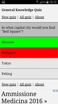 General Knowledge Quiz screenshot 1