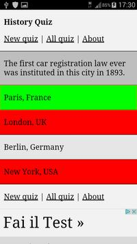 History Quiz 1 apk screenshot