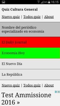 Quiz Cultura General apk screenshot