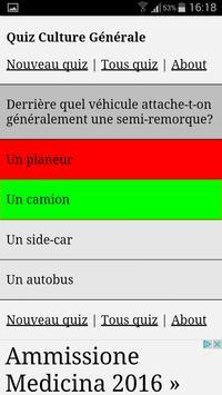Quiz Culture Générale apk screenshot