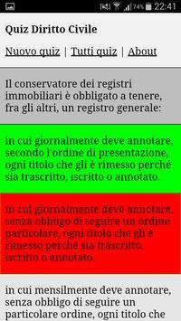 Quiz Diritto Civile apk screenshot