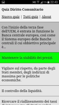 Quiz Diritto Comunitario poster
