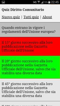 Quiz Diritto Comunitario apk screenshot