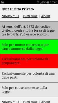 Quiz Diritto Privato apk screenshot