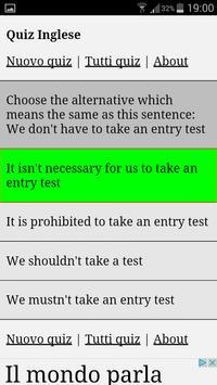Quiz Inglese poster