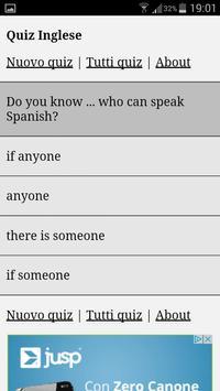 Quiz Inglese apk screenshot