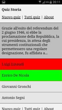 Quiz Storia apk screenshot