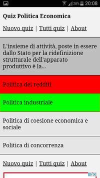 Quiz Politica Economica apk screenshot
