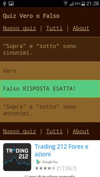 Quiz Vero o Falso screenshot 1