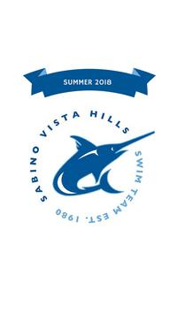SVH Swim Team Summer 2018 poster