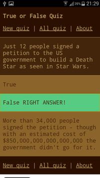 True or False Quiz screenshot 1