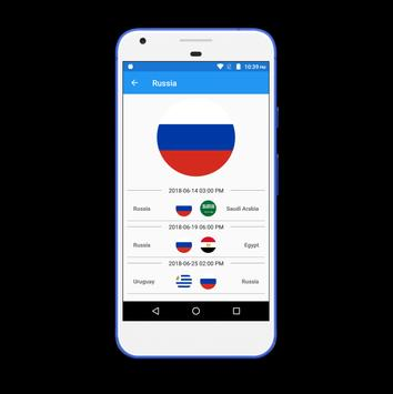 World Cup App 2018 - Live Score,Pnt Table,Fixtures screenshot 2