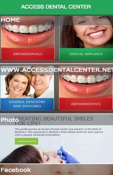 Access Dental center poster