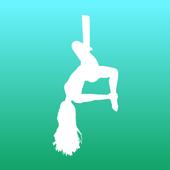 aerial yoga icon