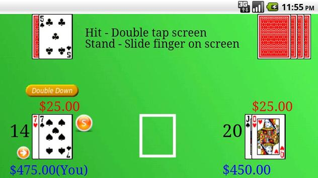 Blackjack Free apk screenshot