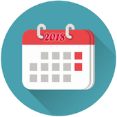 Calendar 2018 with Indian Holidays icon