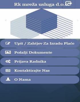 Rk mreža usluga d.o.o. apk screenshot