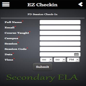 EZ Checkin poster