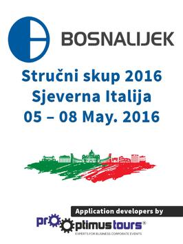 Bosnalijek Italija 2016 poster