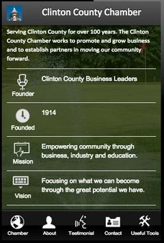Clinton County Chamber poster