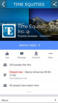 Time Equities Inc. screenshot 2