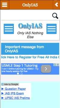 OnlyIAS apk screenshot