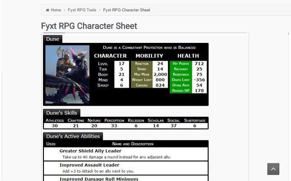 Play the Fyxt RPG for Free apk screenshot