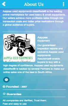 Aappsa Equipment screenshot 1