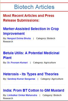 Biotech Articles poster