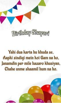 Birthday Shayari apk screenshot